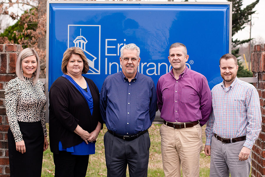 About Our Agency - Enloe Insurance Team Group Photo Outside Office